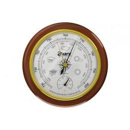 Барометр Akara в деревянной оправе с термометром 125 мм
